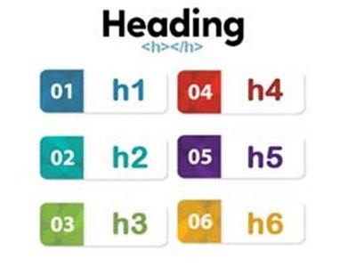 آموزش استفاده صحیح از تگ های هدینگ H1 تا H6 در متن